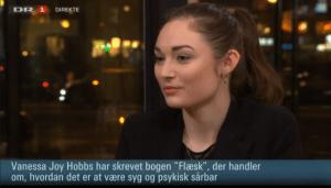 Kvinder og kropsidealer_spiseforstyrrelser i modebranchen, Vanessa Joy Hobbs i Aftenshowet DR1. www.vanessajoy.dk